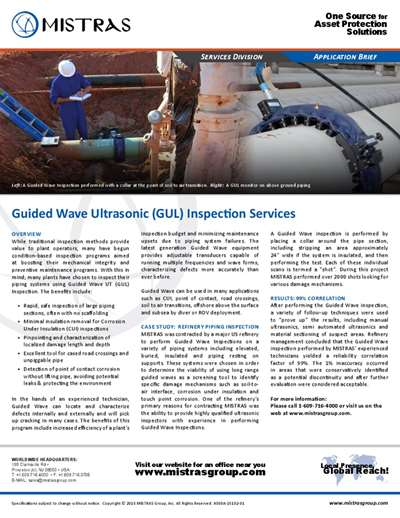 MISTRAS Guided Wave UT (GUL) Inspection Services Application Brief