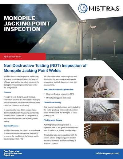 Monopile Jacking Point Inspection Case Study Flyer